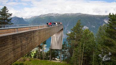 Stegastein - Aussichtsplattform über dem Aurlandsfjord