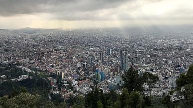 Aussicht auf Bogotá vom Montserate, dem Hausberg Bogotá´s
