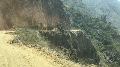 Von Santa Maria bis Hidroelectrica - üble Ripio, staubig und eng...