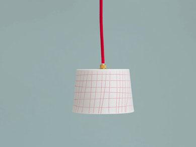 Porzellan Lampe Leuchte kariert Berlin