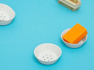Seifenschale perforiert klein Porzellan