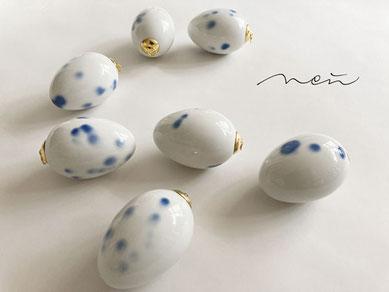 Miniatur Oster Eier Porzellan Osterdeko 3er Pack
