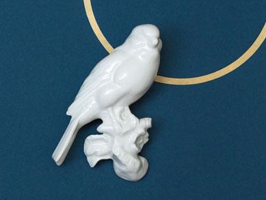 Wandvogel Porzellan