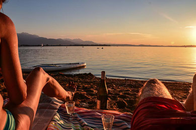 Beachbar Sundowner am Chiemsee