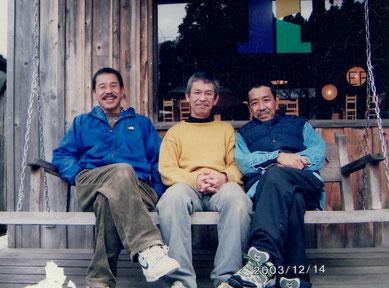 (左から)柿谷正・清・誠