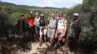 Les participants anocr 34-12-48 à la randonnée de l'aqueduc romain de Nîmes le 13 juillet 2021 anocr34.fr