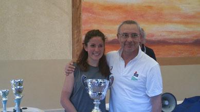 Maurizio Leone (Y.C.Bracciano Est) e Paola Capizzi (L.N.I.Chiavari) vincitori della Terza Nazionale Fireball 2015
