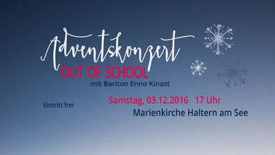 Bariton Enno Kinast Münster Gesang Sänger Stimmbildner Gesangspädagoge Chorleiter Out of School Haltern am See Advent
