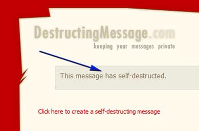 Envoyer un email qui s'autodétruit