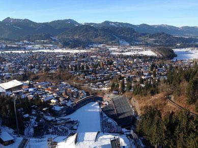 wertach-Ferienwohnungen.de Blick von der Skischanze Oberstdorf