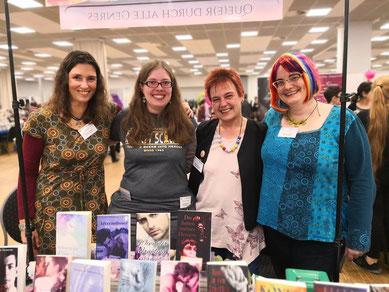 Leann Porter, Dahlia von Dohlenburg/Eliza Dawson, Tanja Rast, Kaye Alden, leider fehlt auf dem Foto Tina Alba