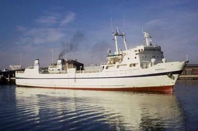 MV Kerisnel, le premier navire de Brittany Ferries.