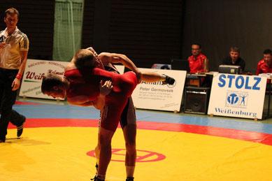 Paul Diettrich gegen Julian Felleiter 66 kg freier Stil