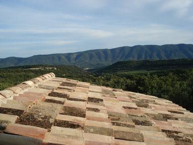 Vue panoramique sur le massif du Luburon