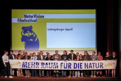 Der Ludwigsburger Appell wurde im Rahmen der Preisverleihung verkündet. (c) NaturVision / Tobias Metz