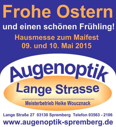 Brillenhausmesse zum Spremberger Maifest