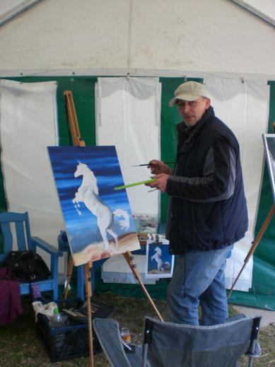 Hier bei einer Ausstellung 2010 im Gestüt Eldagsen.
