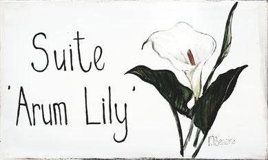 Suite 'Arum Lily' - Door Plate