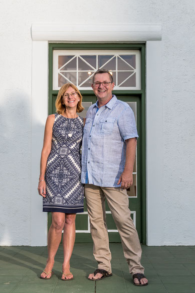 Eienaars en bestuurders van 'De Bergkant Lodge': Renate & Michi