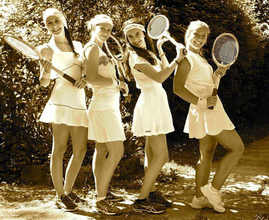 Stage tennis e ritratto vintage