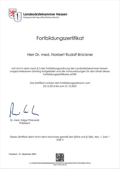 Qualitätsmanagement/Fortbildung - Hausarzt Dr. Brückner