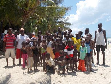 Treffen am Strand von Mombasa....