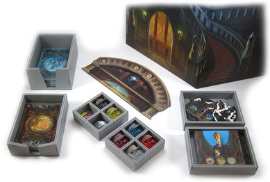 folded space insert organizer mysterium foamcore