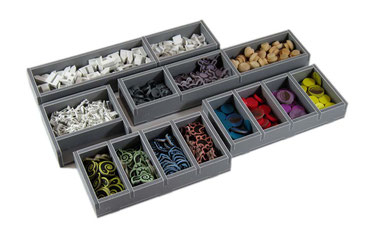 folded space insert organizer spirit island foam core