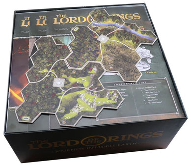 folded space insert organizer journeys in middle earth foam core