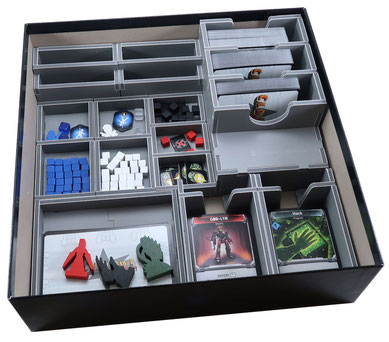 folded space insert organizer clank in space foam core