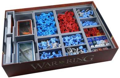 folded space insert organizer war of the ring lords of middle-earth warriors of middle-earth foam core