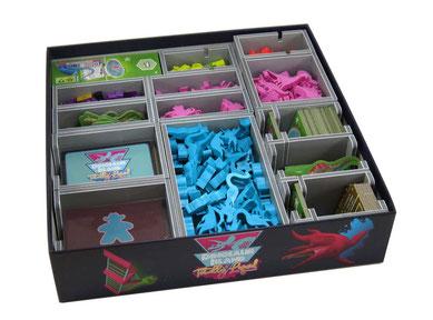 folded space insert organizer dinosaur island foam core