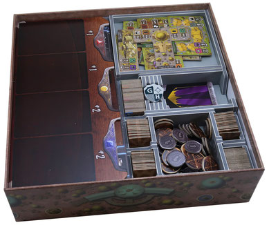 folded space insert organizer  founders of gloomhaven foamcore