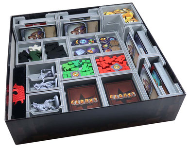 folded space insert organizer Clank! foam core