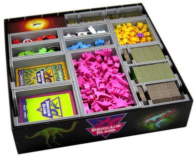 folded space insert organizer dinosaur island foamcore