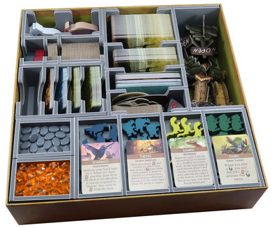 folded space insert organizer everdell foam core