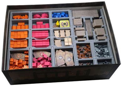 folded space insert organizer barrage foam core