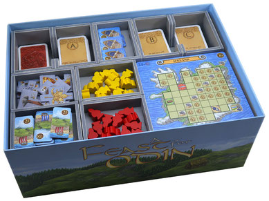 folded space insert organizer feast for odin foam core
