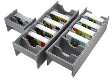 folded space insert organizer imperial settlers foamcore