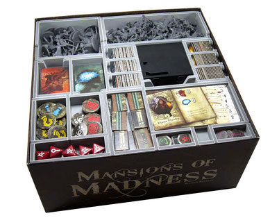 folded space insert organizer mansions of madness foam core