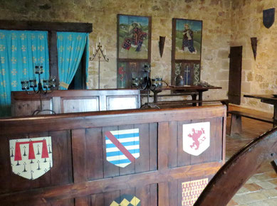 sejour insolite  medieval Chambre Chevalier chateau-fort