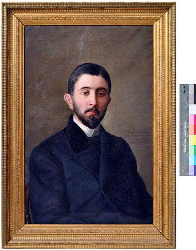 Retrato de D. Luis Obrien y Céspedes. Manuel Gómez Moreno. Óleo sobre lienzo. Colección Fundación Pintor Julio Visconti. Guadix (Granada).