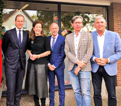 v.l.n.r Lodewijk Ascher, Minister Engelshoven, Luc Pruijn, Toon Bosmans, Ben Pollmann