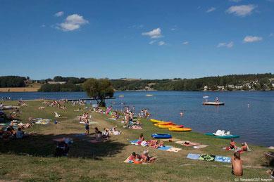 Lac de Villefranche de Panat - Plage