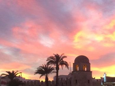 Atardecer en la medina de Sousse