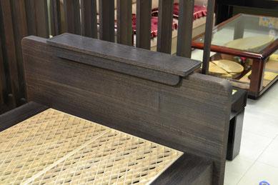 組子ベッド オプションパーツ ワンタッチ ヘッドボード棚