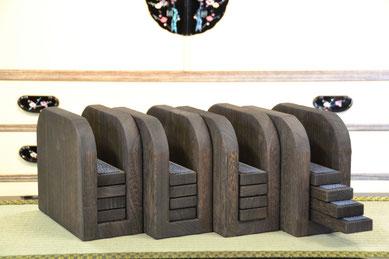 組子ベッド オプションパーツ 高さ変更ツール 焼桐