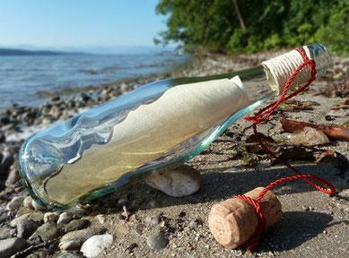 geschenkideen teenager persönliche geschenke   Sommerferien balkon urlaub zuhause Tolle Idee Flaschenpost verschicken