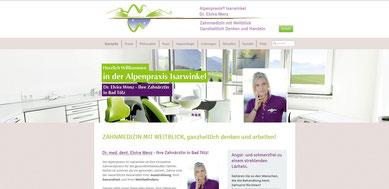 Webseite Alpenpraxis Isarwinkel - Dr. Elvira Wenz