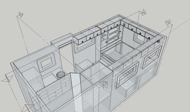 Das 3D Modell erlaubt eine exakte Bestimmung der Maße für die einzelnen Bretter